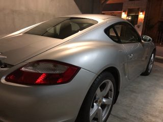 2006 Porsche Cayman S picture form the rear.