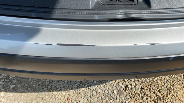 Scratch on the rear bumper picture.